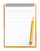 Notitieboekje met potlood — Stockvector