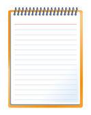 Cuaderno con lápiz — Vector de stock