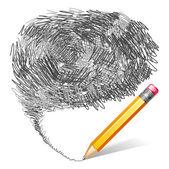 Fondo de lápiz — Vector de stock