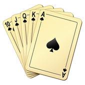 Hrací karty — Stock vektor