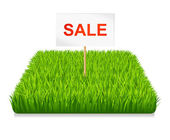 Sale. Green grass — Stock Vector