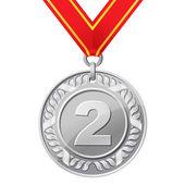 Silver medal — Stock Vector