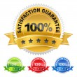 Label satisfaction guarantee — Stock Vector