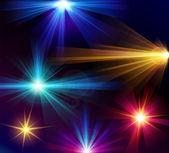Set of 6 vector light effects — Stock Vector