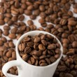 Stock Photo: Roasted brown coffee beans
