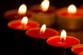Candles forming heart — Foto Stock