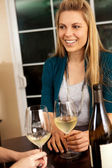 Woman wine — Stock Photo