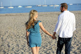 Couple beach — Stock Photo