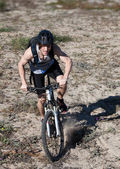 Man mountain bike — Stock Photo
