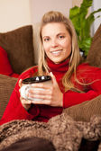 Woman lounging — Stock Photo