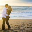 Couple beach — Stock Photo