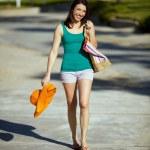 Woman beach town — Stock Photo #42871147