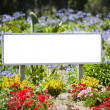 Sign flowers — Stock Photo