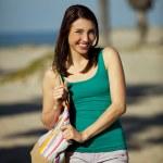 Woman beach town — Stock Photo #42872547