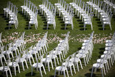 Wedding chairs — Stock Photo