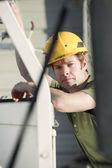 Contractor at jobsite — Stock Photo