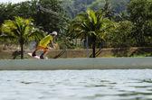 Wake boarder — Stock Photo