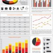 Stock Vector: Energy charts and statistics