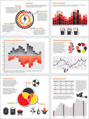 Energy and fuel charts — Vector de stock