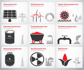 Energy symbols and icons — Stock Vector