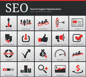 SEO Icons and Symbols — Stockvector