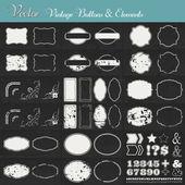 Vintage vector etiketter och element — Stockvektor