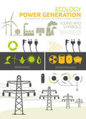 Power generation vector concept designs — Stockvektor