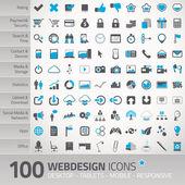 Ensemble d'icônes universelles pour webdesign — Vecteur
