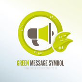 Green symbol for spreading ecologic messages — Stock Vector