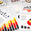 Energy graphs and charts — Foto de Stock