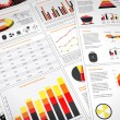 Power graphs and charts — Stockfoto
