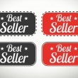 Best seller seals and stamps — Stock Vector