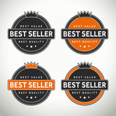 High quality best seller seals and badges — Stock Vector