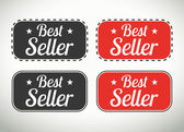 Best seller seals and stamps — Stockvector