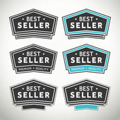 Best seller seals and badges — Stock Vector