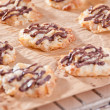 Homemade cookies with chocolate topping — Stock Photo
