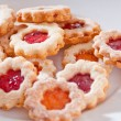 Stock Photo: Delicious homemade jam-filled cookies