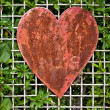Stock Photo: Rusty heart shape
