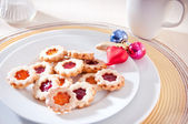 Homemade cookies for a festive coffee break — Stock Photo