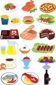 Food, picnic, fast food — Stock Vector