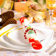 Christmas table — Stock Photo #40090821