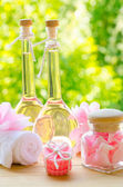 Rose oil and wax pastille — Stockfoto