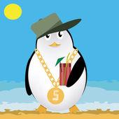 Rapper pinguino — Vettoriale Stock