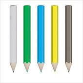 Conjunto de lápices de colores — Vector de stock