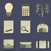 Set of Business Objects — Stock Vector