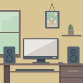 Arbetsplatsen i office — Stockvektor