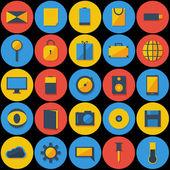 Stor uppsättning ikoner — Stockvektor