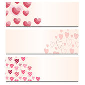 Cards with Hearts — Stock Vector