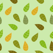 Background with Colored Leaves — Vector de stock