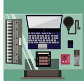 Recording Studio — Stock Vector